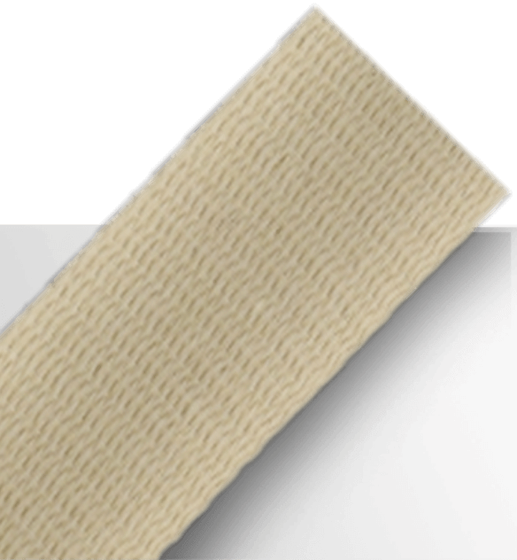 Tan colored cotton webbing